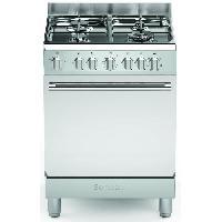 Cuisiniere - Piano De Cuisine BOMPANI CBOMFE60X -Piano de cuisson 60x60-4 foyers gaz-Four electrique multifonction-Inox