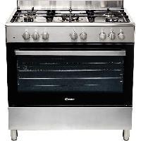 Cuisiniere - Piano De Cuisine CCGM9055PX-Cuisiniere table gaz-5 foyers-11060 W-Four electrique multifonction-Catalyse-100 L-A-L 90 x H 87 cm-Inox