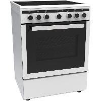 Cuisiniere - Piano De Cuisine CECICM604ZW-Cuisiniere table induction-4 zones-Four electrique multifonction-Catalyse-65 L-A-L 60 x H 85 cm-Blanc