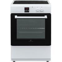 Cuisiniere - Piano De Cuisine CONTINENTAL EDISON - Cuisiniere induction 3 zones - four multifonction catalyse 65L - programmateur digital - BLANC