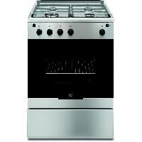 Cuisiniere - Piano De Cuisine EGKG60100VX-Cuisiniere table gaz-4 foyers-Four electrique-Catalyse-59 L-L 60 x H 88.9 cm-Inox