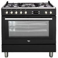 Cuisiniere - Piano De Cuisine GM15310DB Piano de cuisson - Table gaz 5 foyers - 3.3kW - Four multifonction- 112L - A++- Larg 90cm x Haut 85cm - Coloris Noir