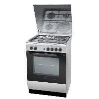 Cuisiniere - Piano De Cuisine INDESIT I6M6HAGXFR - Cuisiniere table mixte gaz - electrique-4 zones-4800W-Four electrique multifonction-Hydrolyse-59L-Inox