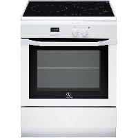 Cuisiniere - Piano De Cuisine INDESIT IC63I6C6A -W- -FR - Cuisiniere table induction - 3 zones - Four electrique - Catalyse - 59 L - A - L 60 x H 85 cm - Blanc