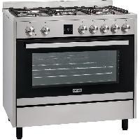 Cuisiniere - Piano De Cuisine PMONOX90DFTSS-Cusiniere table gaz-5 bruleurs-Four electrique-Catalyse-116 L-A-L 90 x H 93 cm-Inox