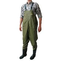 Cuissardes - Waders - Combinaison De Peche Waders Double PVC - Homme - Vert kaki - 41