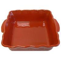 Cuisson Des Aliments ABALONE EDITION - 056023620 - Plat carré - 23cm - Festonné - Couleur Cerise