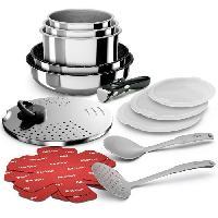 Cuisson Des Aliments BACKEN 391699 - Batterie de cuisine 16 pieces inox - Tous feux dont induction