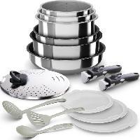 Cuisson Des Aliments BACKEN 399915 - Batterie de cuisine 15 pieces inox - Tous feux dont induction
