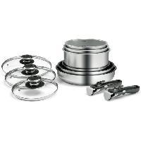 Cuisson Des Aliments BACKEN Batterie de cuisine 11 pieces en inox