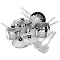 Cuisson Des Aliments BACKEN Batterie de cuisine 12 pieces 659912 - Inox - Tous feux dont induction + Four