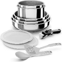 Cuisson Des Aliments BACKEN Set de Batteries de cuisine - Inox - 10 pieces - Tous feux dont induction