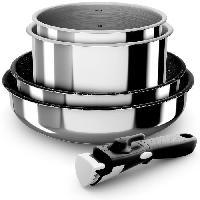 Cuisson Des Aliments BACKEN Set de batteries de cuisine - Inox - 5 pieces - Tous feux dont induction