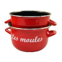 Cuisson Des Aliments BAUMALU Marmite a moules - 24 cm - Rouge marquage