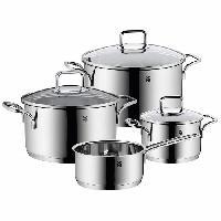 Cuisson Des Aliments Batterie de cuisine WMF - Acier inoxydable - 4 pieces - Argent