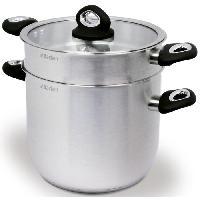 Cuisson Des Aliments CRYSTAL Couscoussier 8 litres INDUCTION - argent