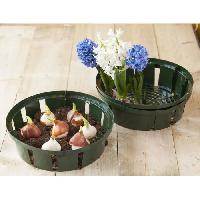 Culture Indoor Lot de 3 bacs a bulbes H7 x diam 22 cm Nature
