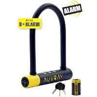 Cycles AUVRAY Antivol U Alarme 245 cm avec support