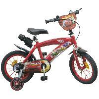 Cycles CARS Vélo 14 + Casque - Enfant - Rouge et noir Aucune