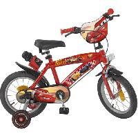 Cycles CARS Vélo Enfant - 14 - 4/7 ans - Rouge