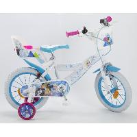 Cycles LA REINE DES NEIGES2018Vélo 14'' - Enfant fille - Blanc et bleu Aucune