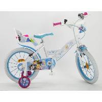 Cycles LA REINE DES NEIGES 2018 Velo 16 - Enfant fille - Blanc et bleu Aucune