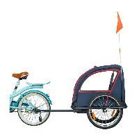 Cycles Remorque enfant velo Bike Original serie 100 indigo + eclairage