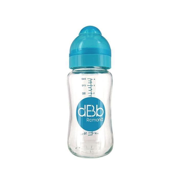 DBB-REMOND-Biberon-Lo-Verre-240-Ml-Tetine-Silicone-0-4-Mois-System-Turquoise-T