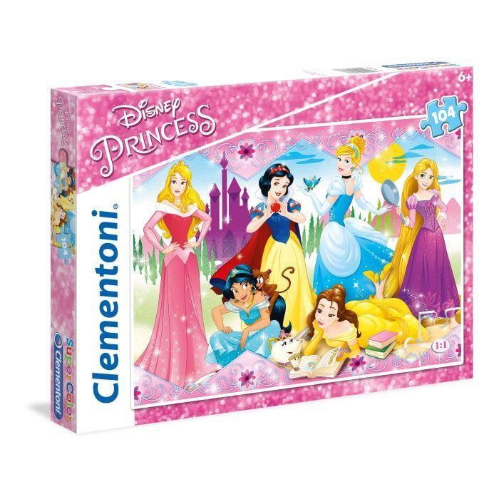 DISNEY-PRINCESSES-Puzzle-104-pieces-48-x-33-cm-Clementoni