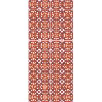 Deco - Linge - Luminaire AASTORY Tapis 100% vinyle VIF 41097 - 1.5 mm - 49.5 x 112 cm - Orange - Made In France