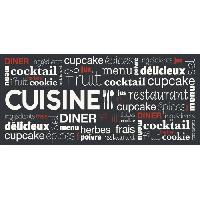 Deco - Linge - Luminaire AASTORY Tapis de cuisine 100% Vinyle - 49.5x109 cm - VIF 23393 - Made In France