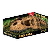 Decoration Artificielle - Resine - Led - Fond De Decor EXO-TERRA Décor crane T-rex skull - Pour reptile ou amphibien - Exo Terra