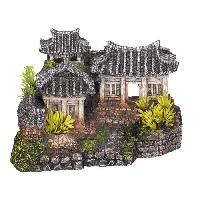 Decoration Artificielle - Resine - Led - Fond De Decor NOBBY Aqua Deco Asian temple 190 x 150 x 120mm pour aquarium