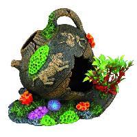 Decoration Artificielle - Resine - Led - Fond De Decor TRIXIE Décoration Jarre 12 cm pour aquarium