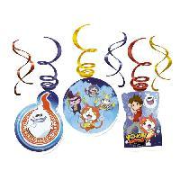 Decoration De Fete Murale - Decoration De Fete A Suspendre YO KAI WATCH 6 Spirales Decoratives