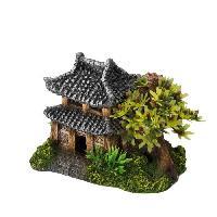 Decoration De L'habitat EBI Decor Maison asiatique avec des plantes - 14x9x10 cm - Pour aquarium