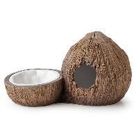 Decoration De L'habitat Exo Terra Coconut Hide & Water Dish