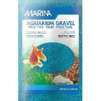 Decoration De L'habitat MARINA Sable microbille - 1 kg - Bleu - Pour aquarium