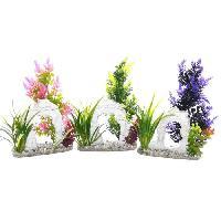 Decoration De L'habitat SYDECO Pont Aquatic - Décoration ornement plantes + support pour Aquarium