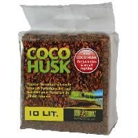 Decoration De L'habitat Substrat Coco Husk 10 L - Pour terrarium de climat tropical ou semi-tropical