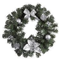 Decoration De Noel AUTOUR DE MINUIT Couronne décoré - Ø35 cm - Argent Aucune