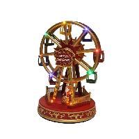 Decoration De Noel AUTOUR DE MINUIT Grande roue animée - H 29cm