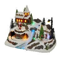Decoration De Noel AUTOUR DE MINUIT Grand village animé - H 23.5cm