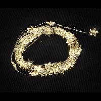 Decoration De Noel AUTOUR DE MINUIT Guirlande déco 50 miniled - 5 m - Blanc chaud avec étoiles