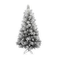 Decoration De Noel AUTOUR DE MINUIT Sapin argenté avec flocage - 347 branches - H 150cm