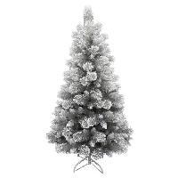 Decoration De Noel AUTOUR DE MINUIT Sapin argenté avec flocage - 587 branches - H180cm