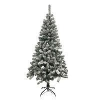 Decoration De Noel AUTOUR DE MINUIT Sapin floque - 380 branches - H 180cm