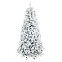 Decoration De Noel AUTOUR DE MINUIT Sapin floque Alaska - 565 branches - H 180cm - Vert