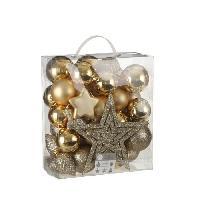 Decoration De Noel Arbre Decoration incassable or 40 pieces - d8cm Aucune