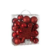 Decoration De Noel Arbre Decoration incassable rouge 40 pieces - d8cm Aucune